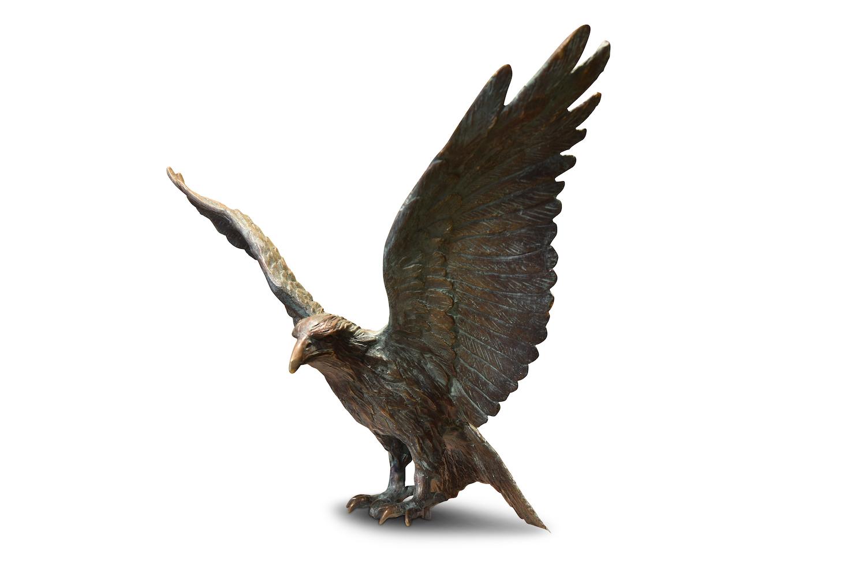 Bronzefigur Vogel ROTER MILAN