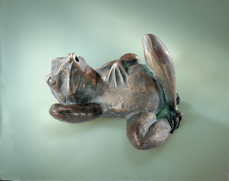 Bronzewasserspeier Frosch URLAUB