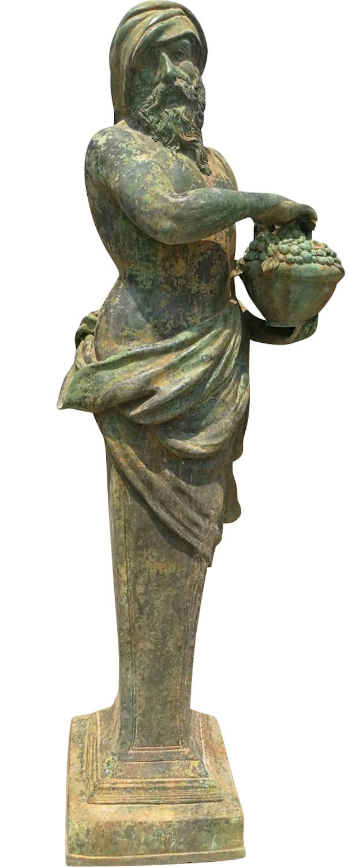 Bronzefigur ADELPHOS, 4 Jahreszeiten Herbst