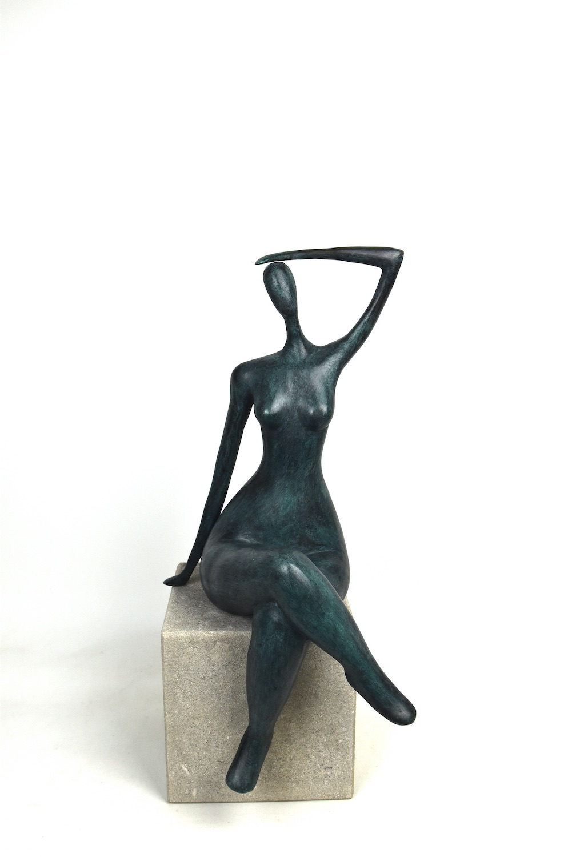 Bronzefigur AVELINE, 53 cm