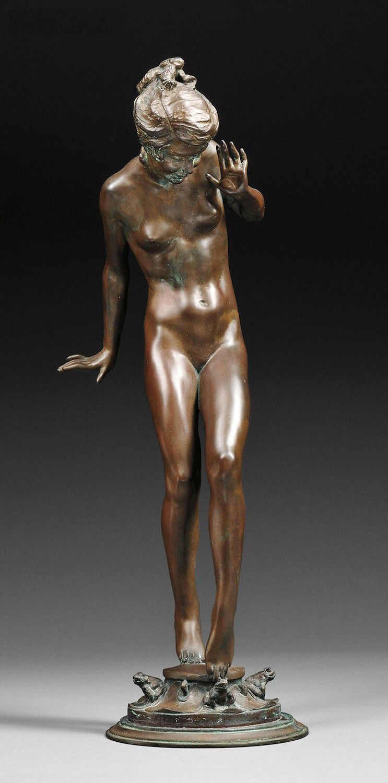 "Originale Bronzeplastik""Play Days"" (1925), Harriet Whitney Frishmuth"