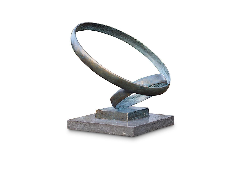 Bronzefigur Zwei RINGE, 35 cm