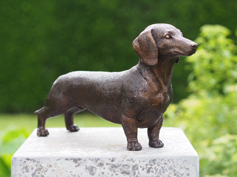 Bronzefigur Hund Dackel FRIEDRICH