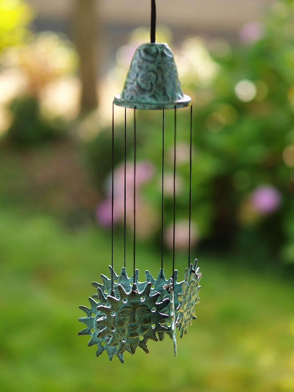 Windspiel SONNE, Bronze