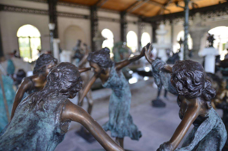 Bronzebrunnen NYMPHENBRUNNEN, Bronzefigur