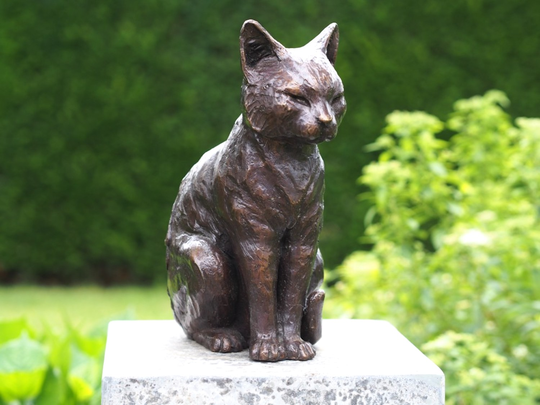 Bronzefigur Katze/Kater LEO