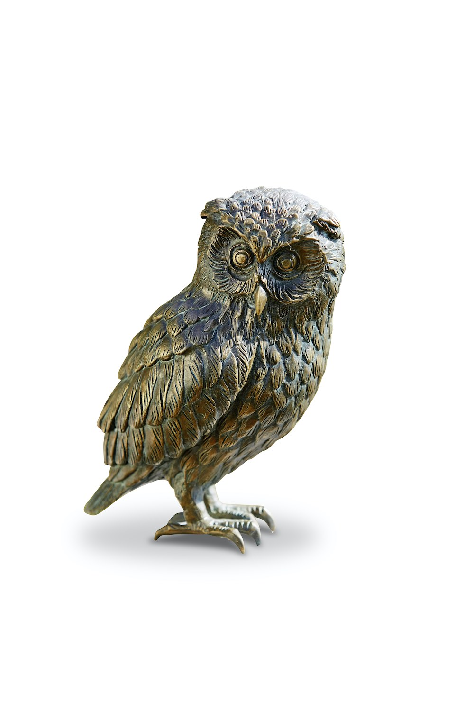 Bronzefigur Vogel Eule UHU