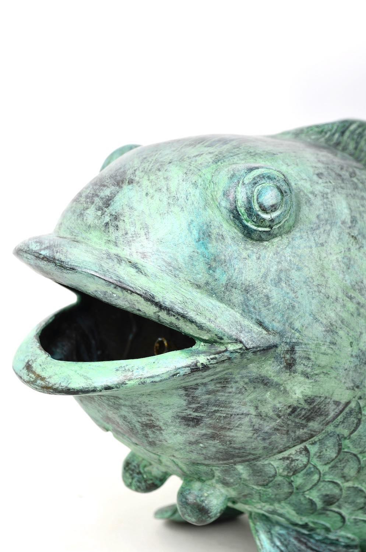 Bronzewasserspeier BIG GREEN, 54 cm