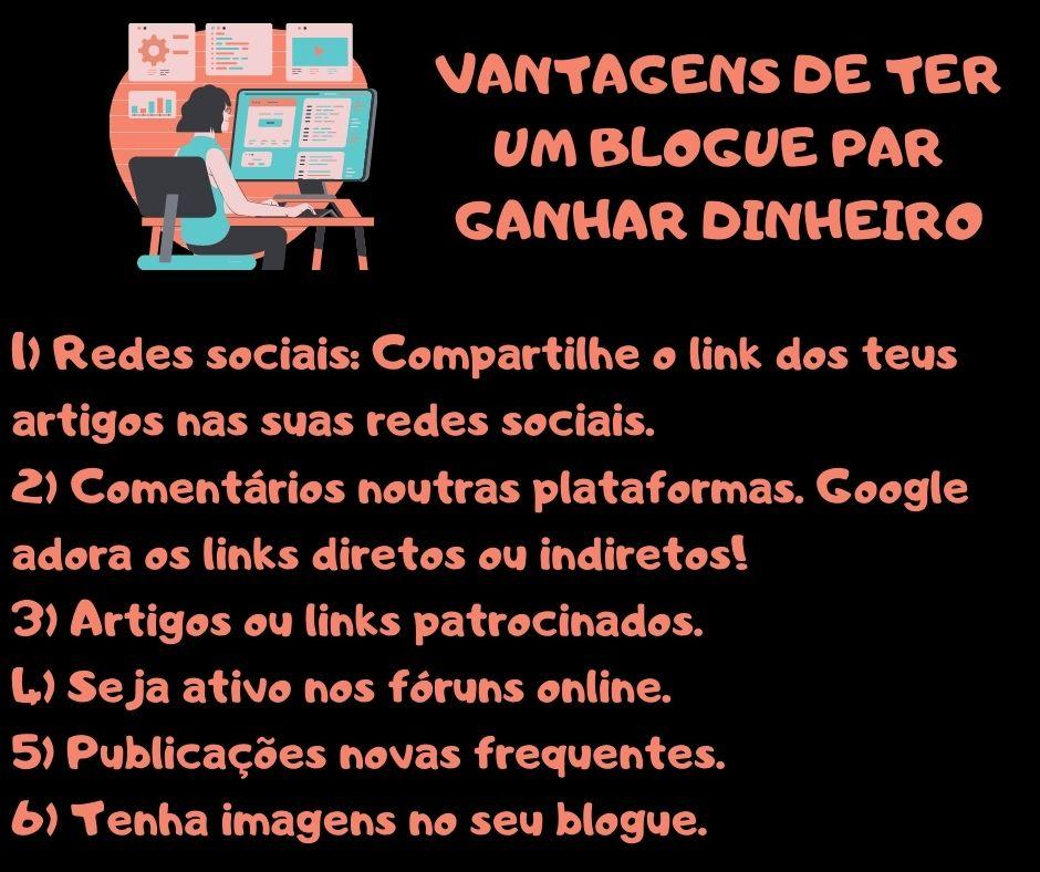 criar blogue, ganhar dinheiro, portugal, internet