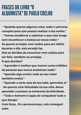 """20 frases do livro """"O alquimista"""" de Paulo Coelho"""
