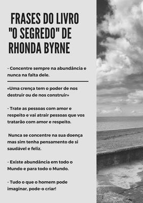 """Resumo do livro""""O segredo"""" de rhonda byrne - Portugueses"""