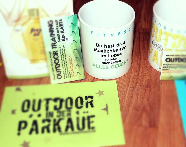 Outdoor Bootcamp 4er oder 8er Karte mit Motivationstasse