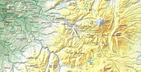 Ausschnitt US-Bundesstaat Oregon