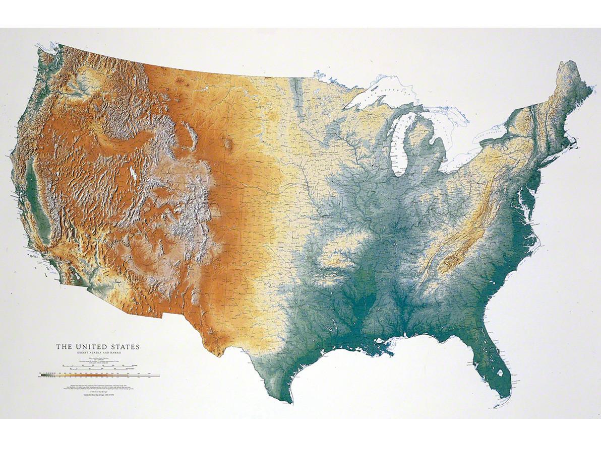 Die schönste USA-Wandkarte, die je produziert wurde!