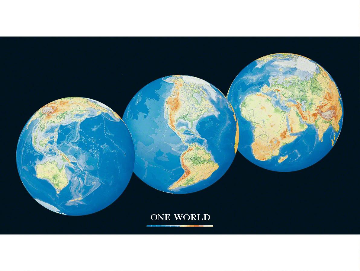 Die schönste Weltkarte. One World