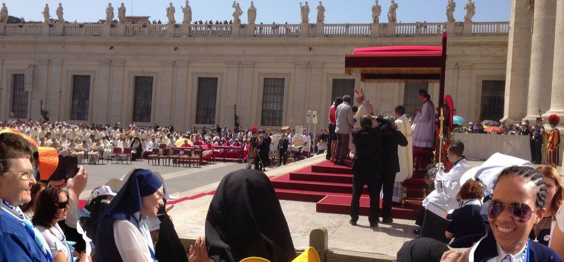 Photos of the canonization and activities