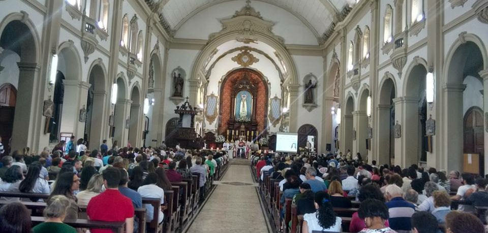 Celebration for the canonization: Church of Our Lady of Fatima SP Brazil
