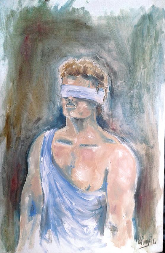 Trial, 40 x 60 cm, Öl auf Leinwand