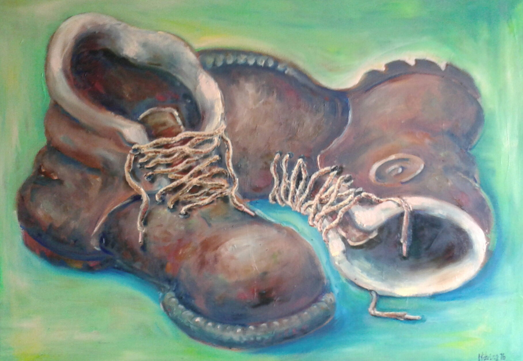 These Boots are made for Walking, 50 x 70 cm, Öl auf Leinwand