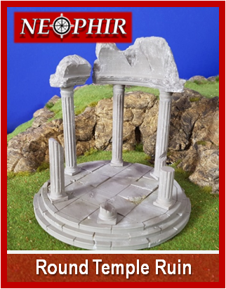 picture relating to 2d Printable Terrain known as Spherical Temple Destroy - 3D printable surroundings and terrain for