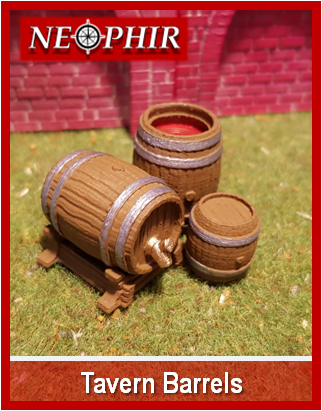 Tavern Barrels - 3D printable scenery and terrain for your