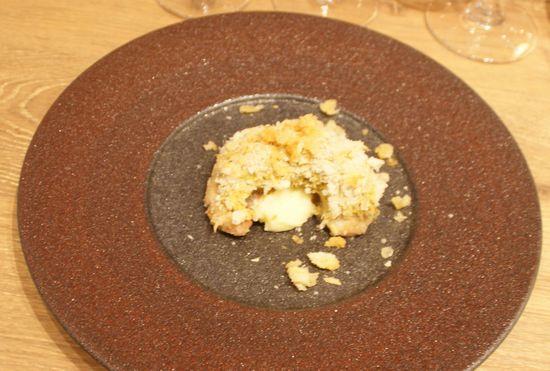 トラフグ白子のパン粉焼き