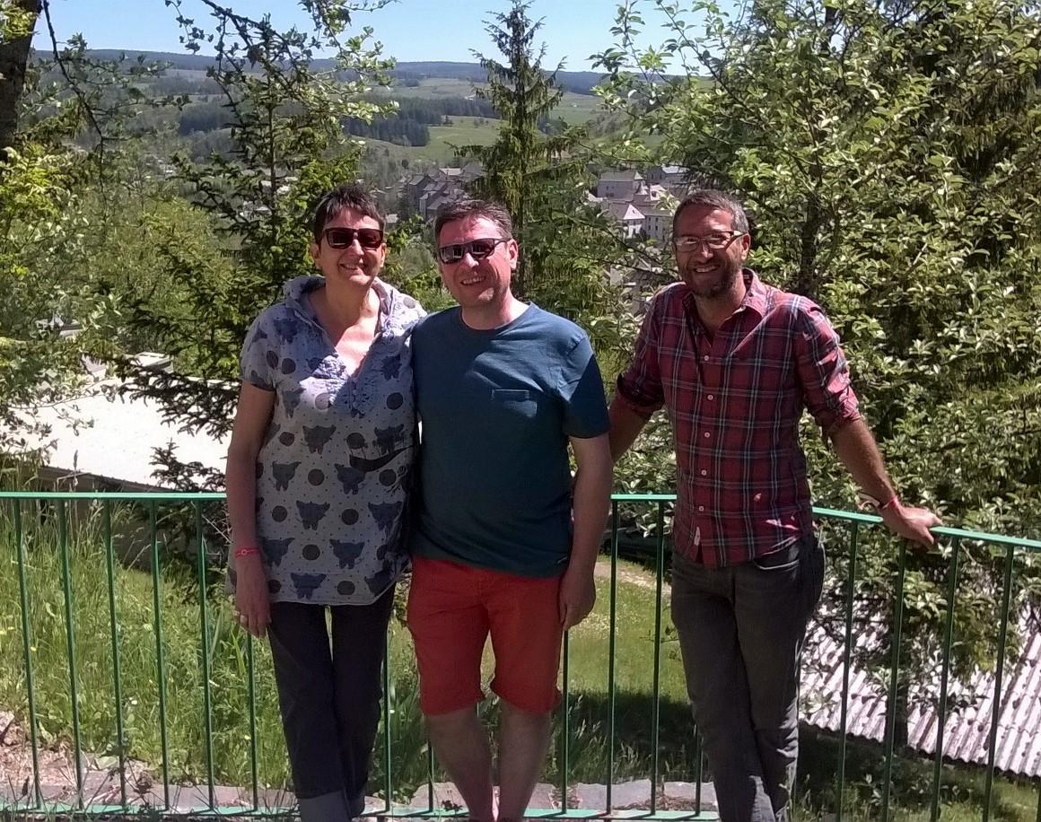 Ils sont revenus pour le Festival d'Olt : Catherine, Michel et Emmanuel