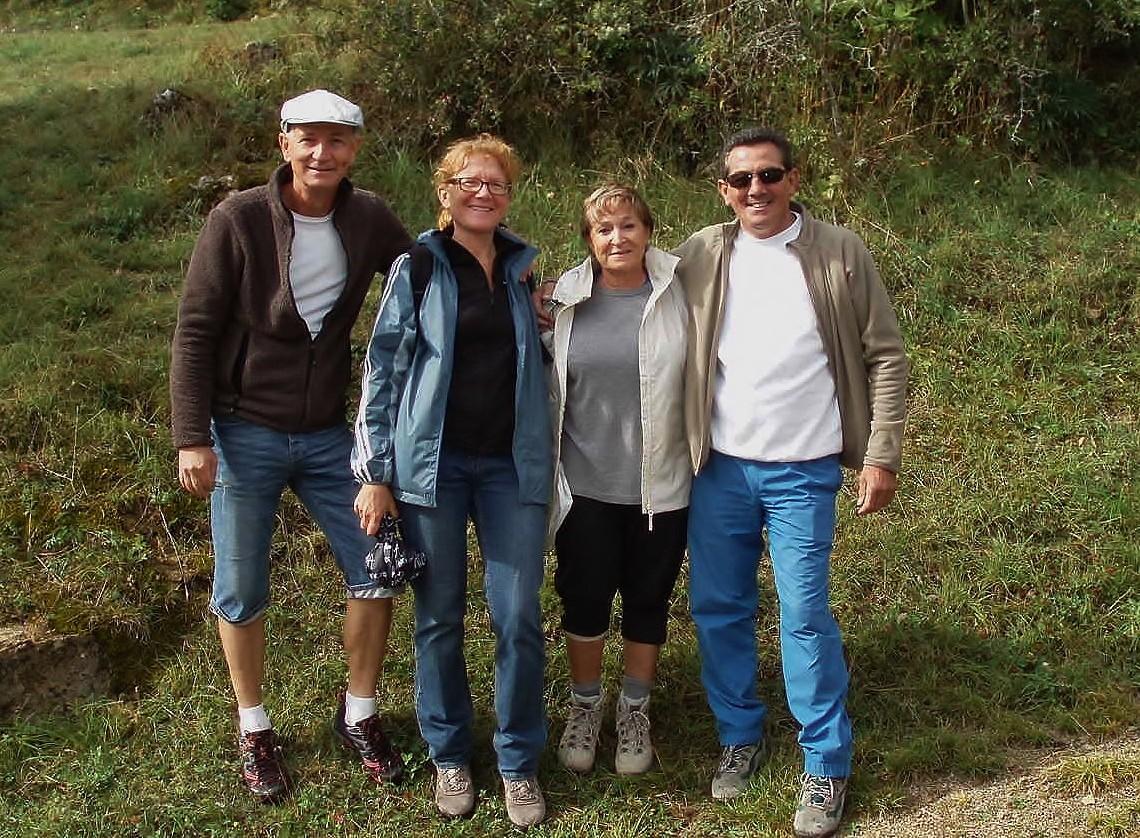Jean-Claude et Christine, de retour avec leurs amis Serge et Martine.