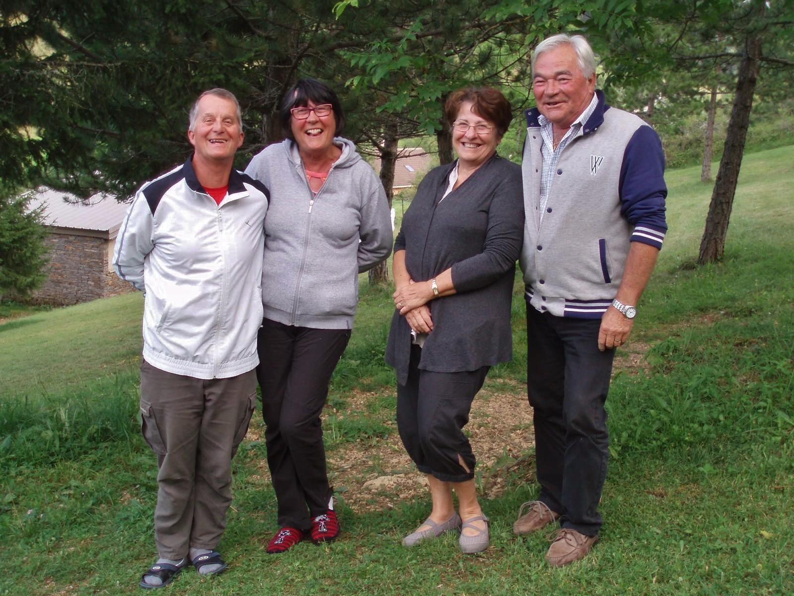 Jean-Luc, Anne-Marie, Bernadette et Robert.