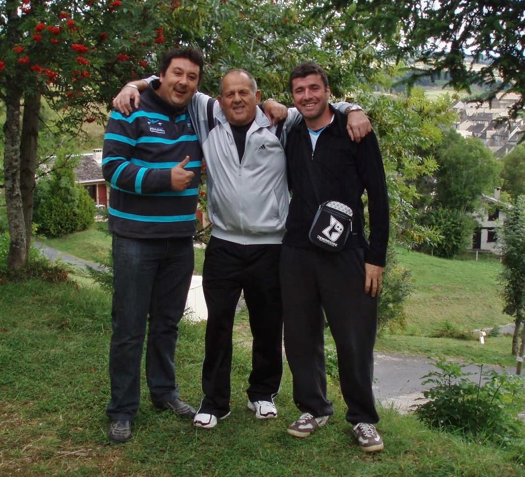 Les copains : Serge, Robert et Cyril.