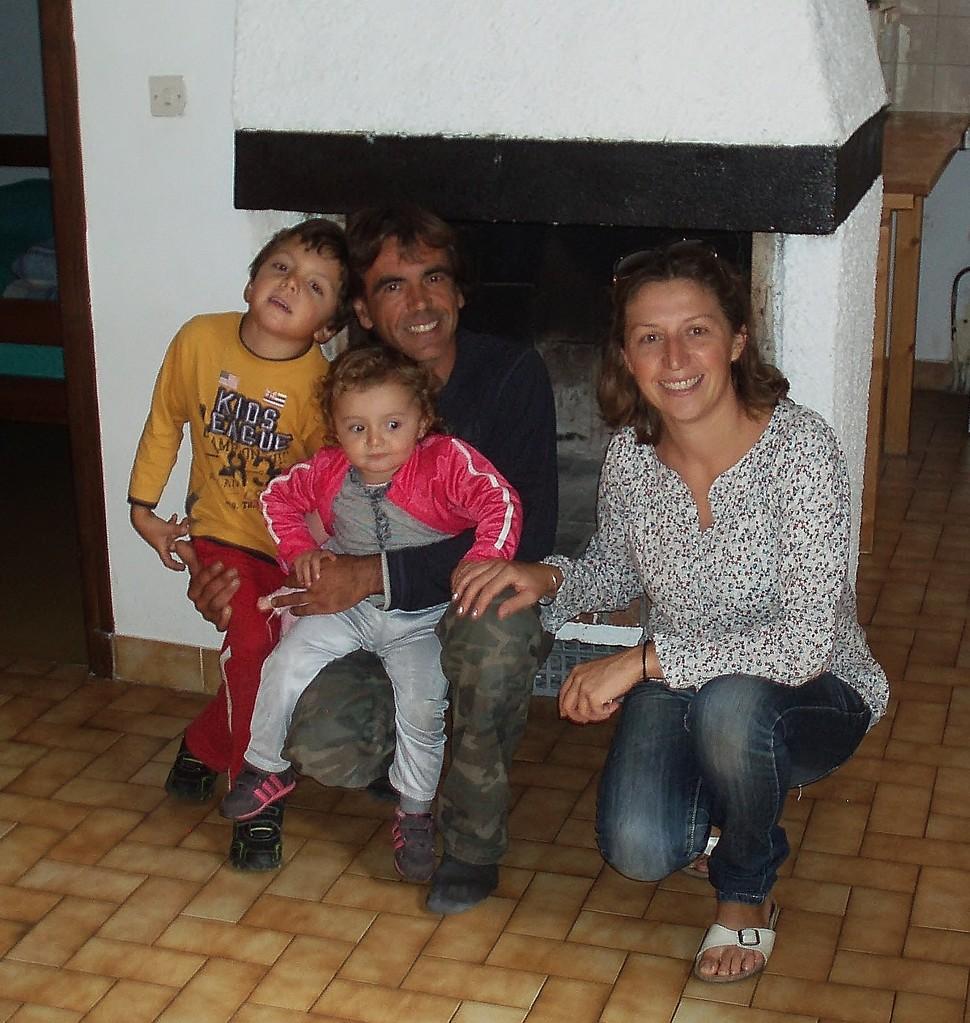 Odile, Patrick et les petitous Louis et Lise.