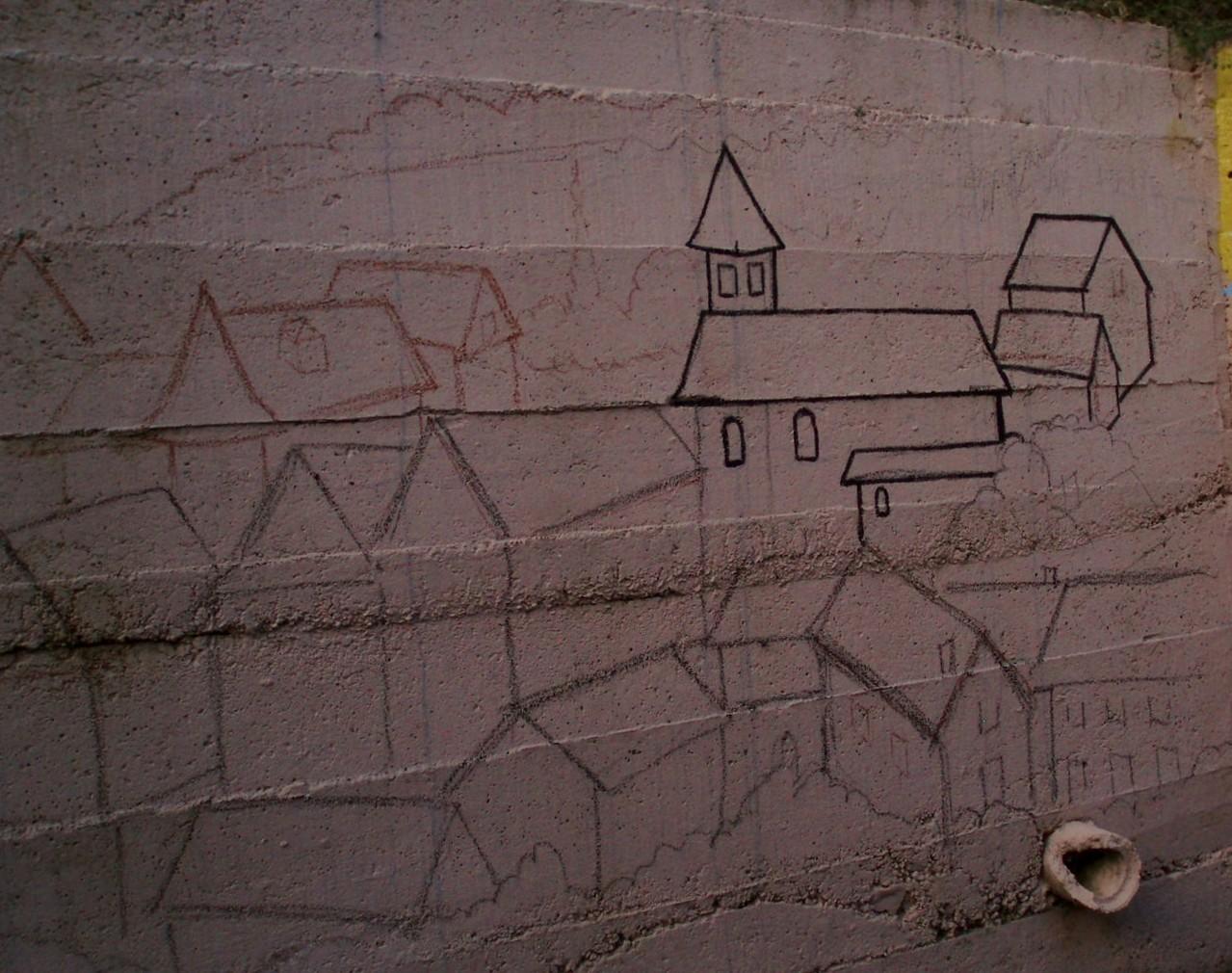 Il a commencé par une esquisse très gracieuse du village du Bleymard.