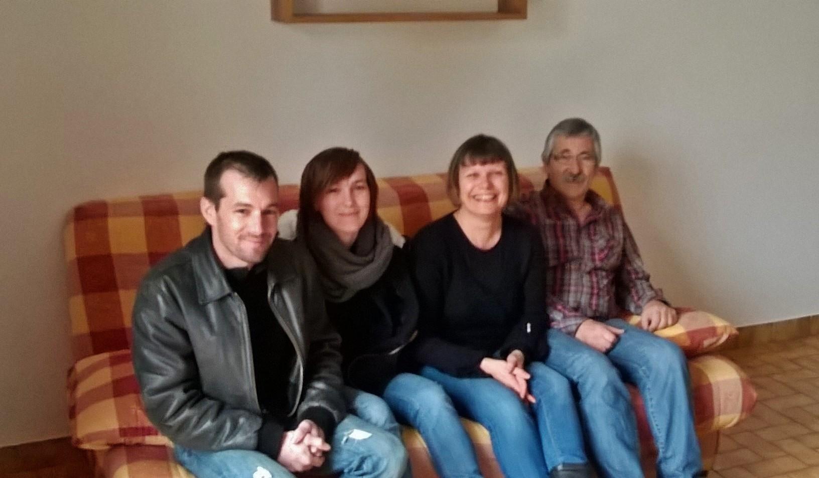 Catherine, Marc, benjamin et Clémentine,des habitués depuis 3 générations!