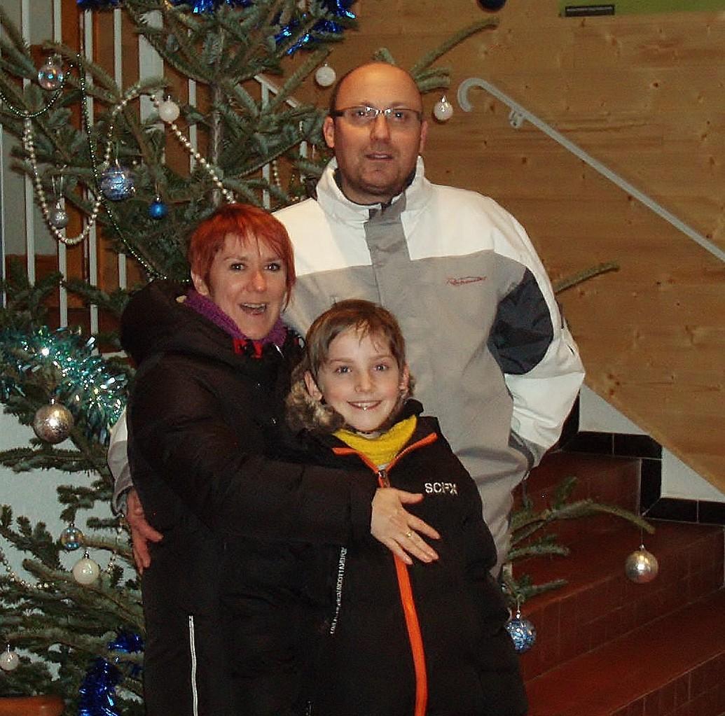 Olivier, Marianne et Maxime, en séjour pour Noël.