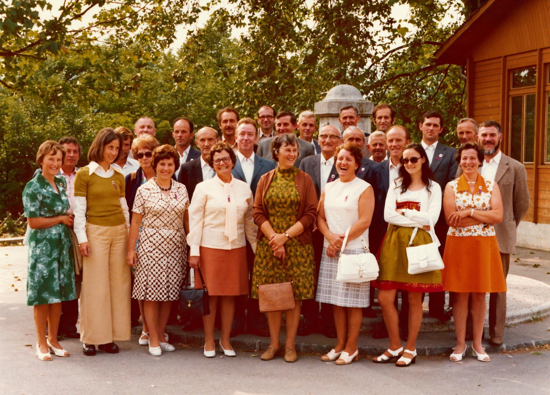Die ganze Reisegesellschaft 21./22.6.1975::Foto zur Verfügung gestellt von Martha Hauser