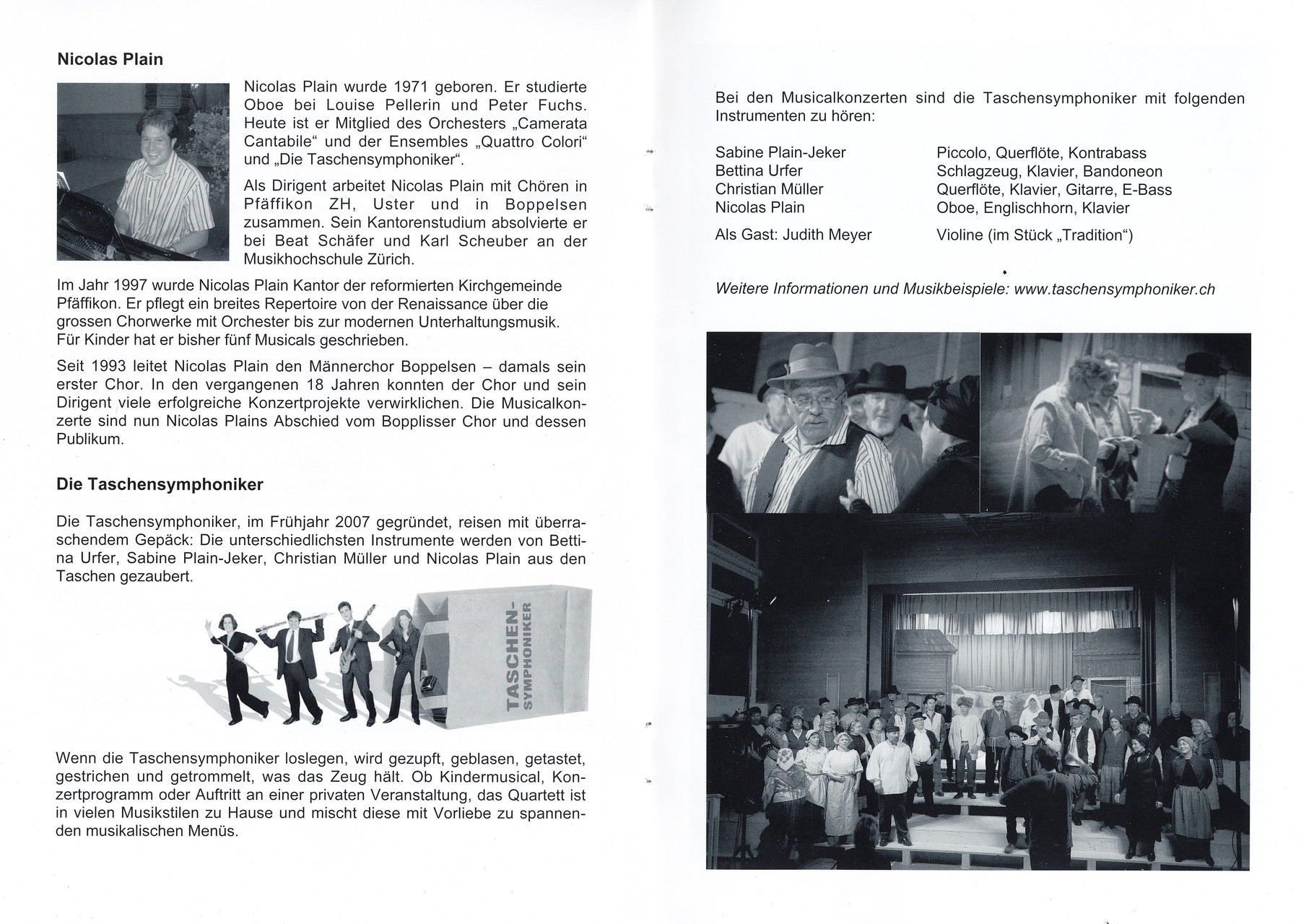 Programmführer zu den Anatevka Aufführungen am 5./6.2.2011