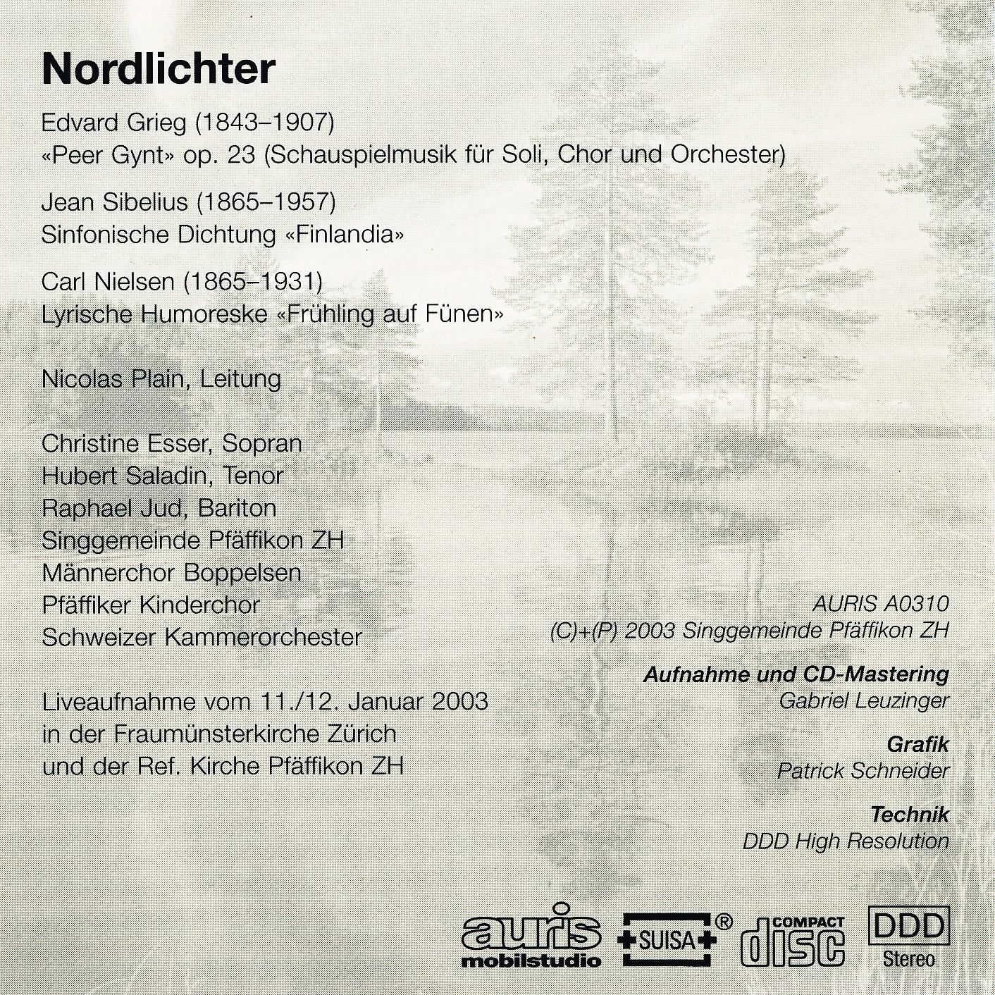 CD Booklet hinten::Programm