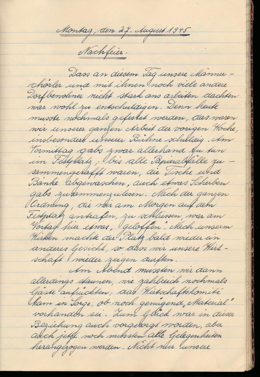 «Nachfeier» am Mo und Di / Seite 1 von 3
