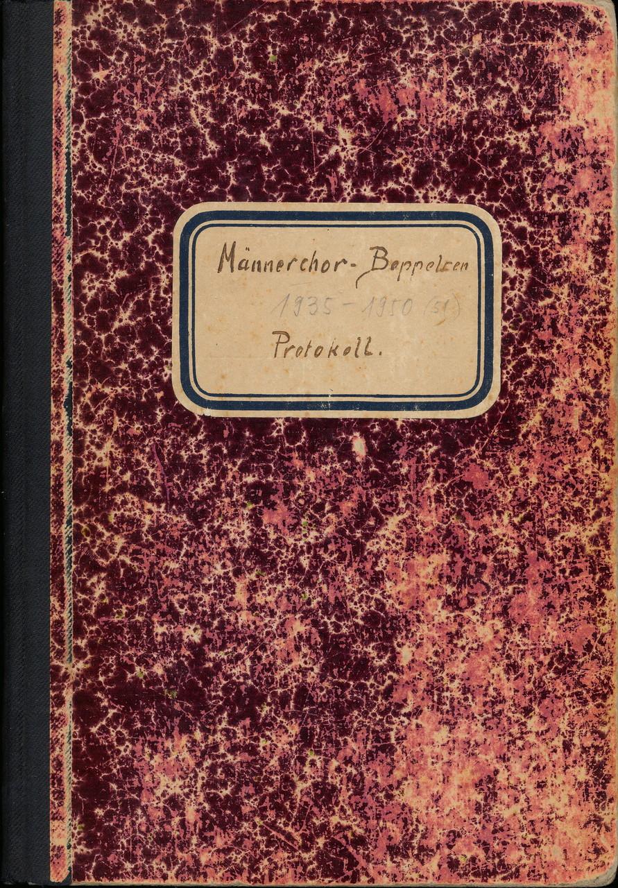 Protokoll zum Bezirkssängertag 22.5.1938::(Protokollbuch 1935-1951)