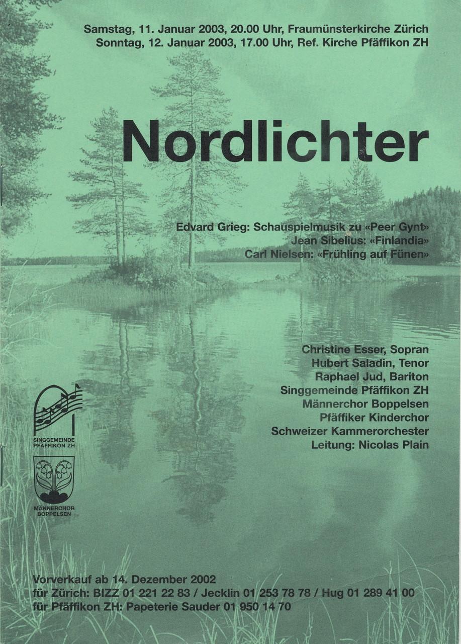 Programmheft «Nordlichter»                      Leitung: Nicolas Plain
