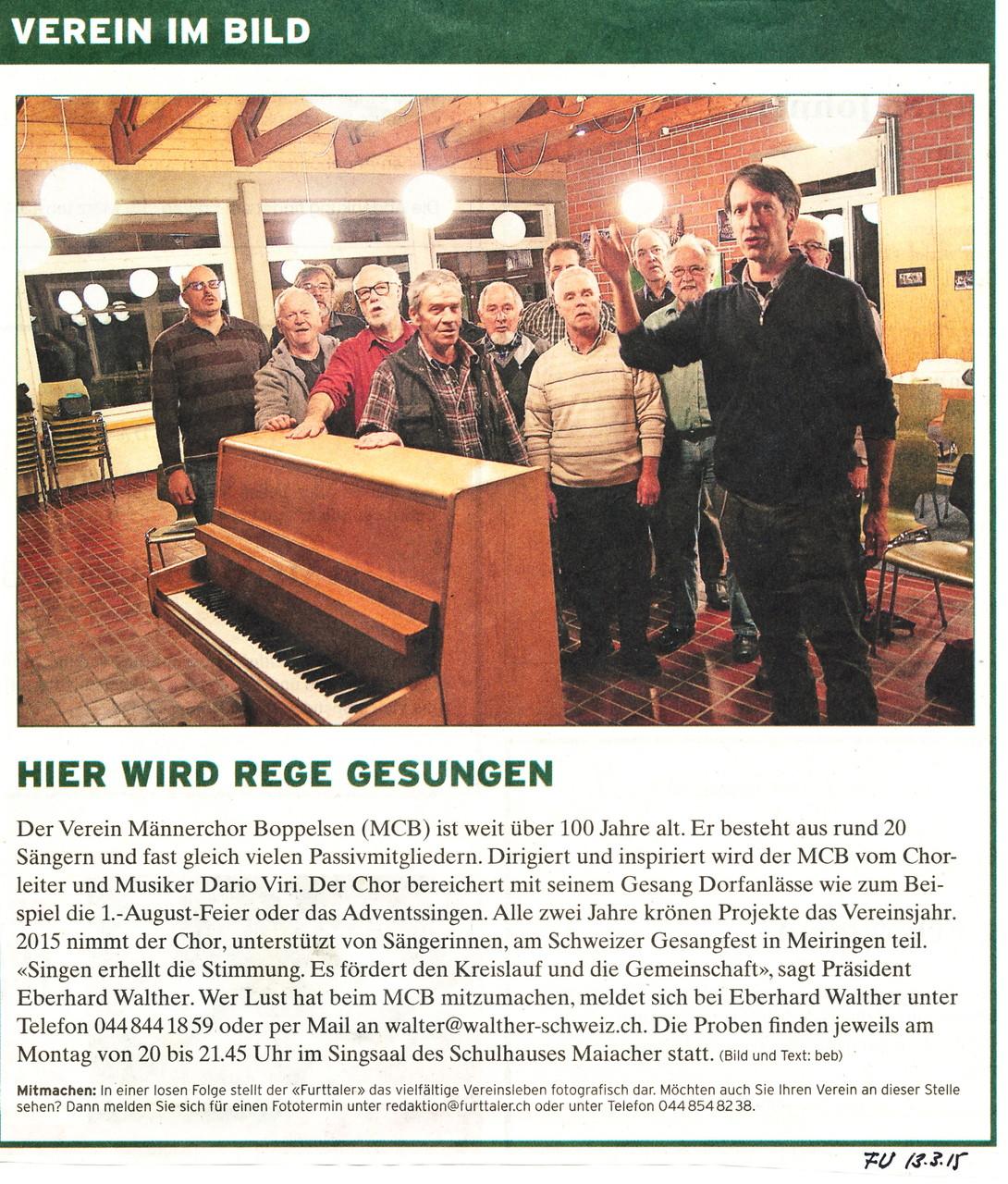 Furttaler 13.3.2015::Verein im Bild