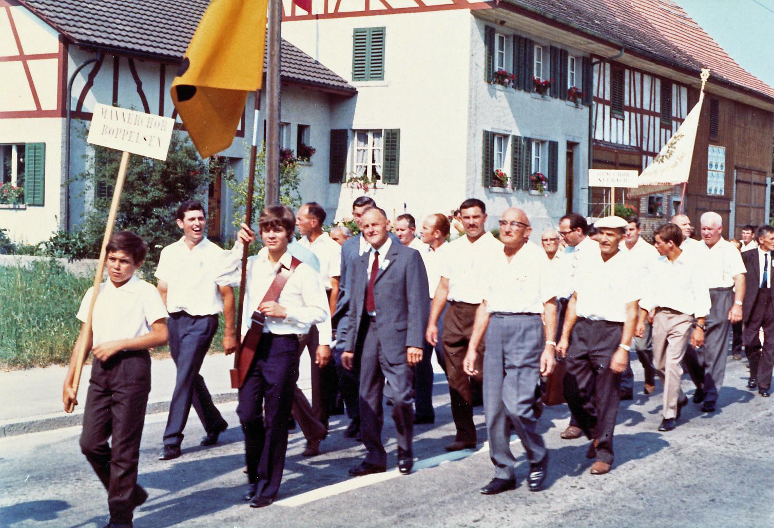 Marsch durch Niederglatt:: 11.7.1971