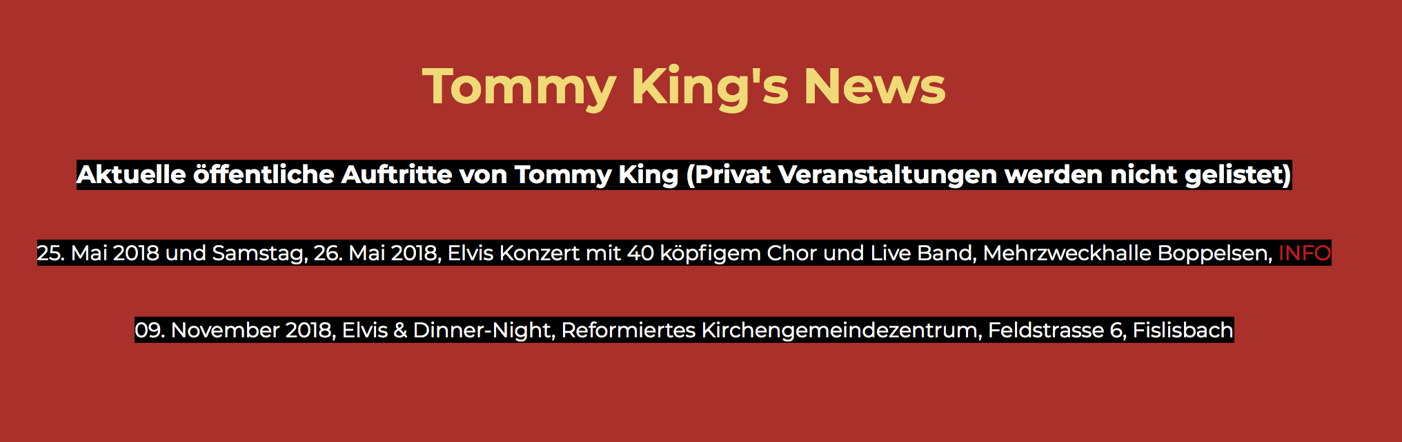 Elvis Interpret Tommy King