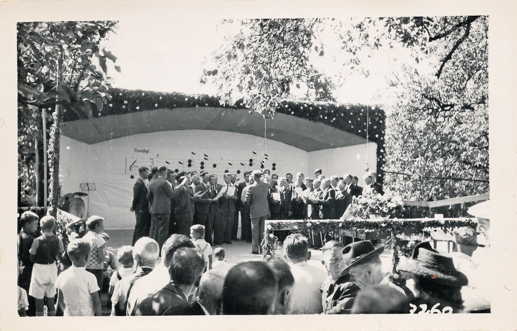26.8.1945::Eröffnungsgesang MC Otelfingen und Boppelsen