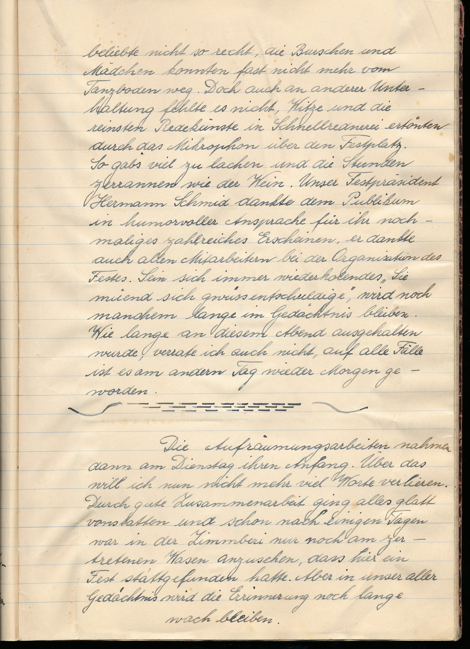«Nachfeier» am Mo und Di / Seite 3 von 3