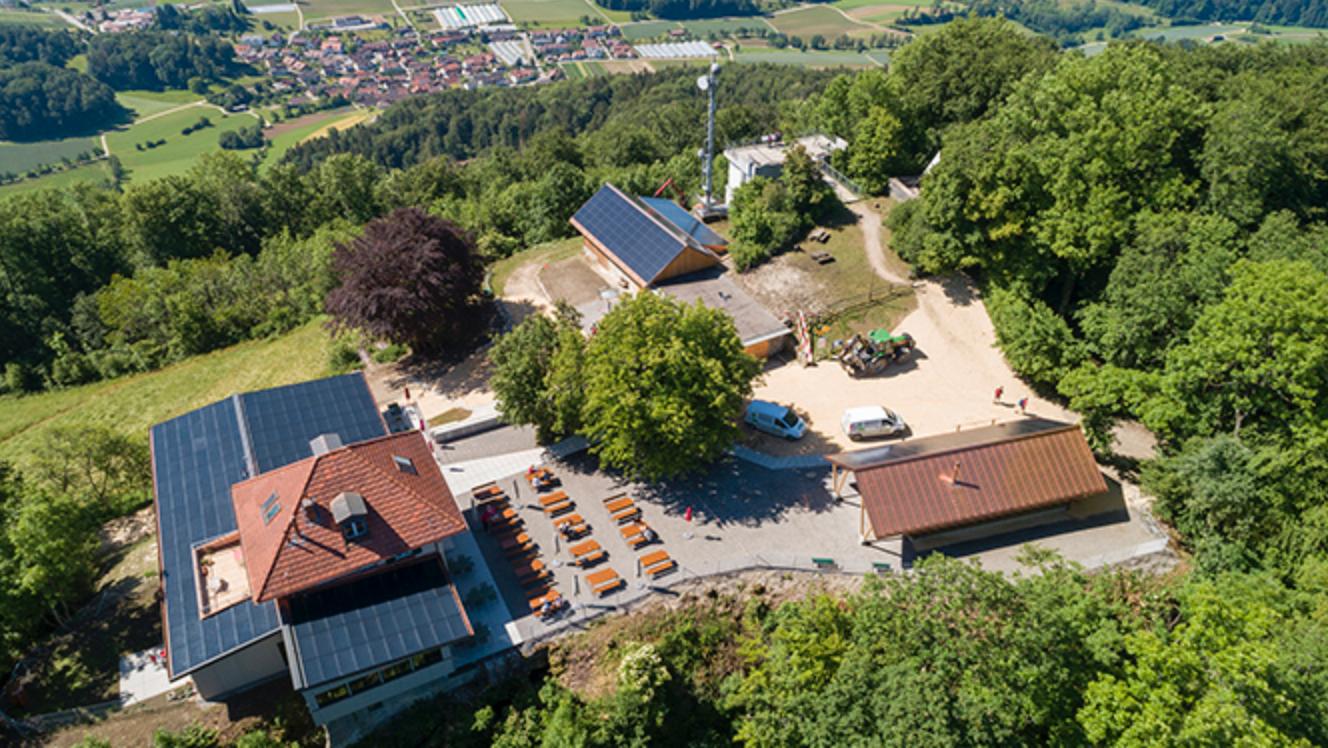 Aus der Luft (www.laegern-hochwacht.ch)