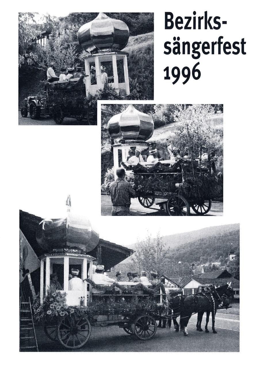 Fahrt mit dem Zwiebelturm und «Kalinka» ans Bezirkssängerfest 1996 nach Otelfingen / siehe Dschunke und «Chinesenmarsch» am Bezirks-Sängertag Otelfingen 1938