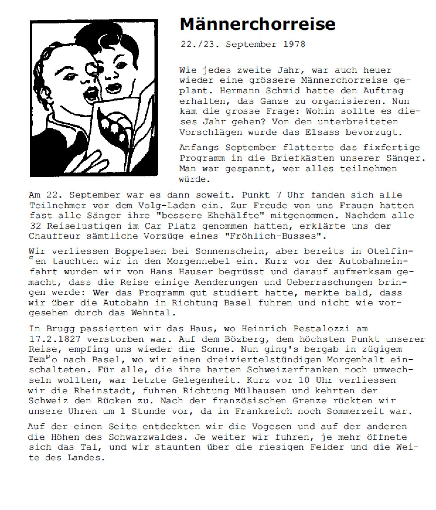 Reisebericht BOZY 4/78