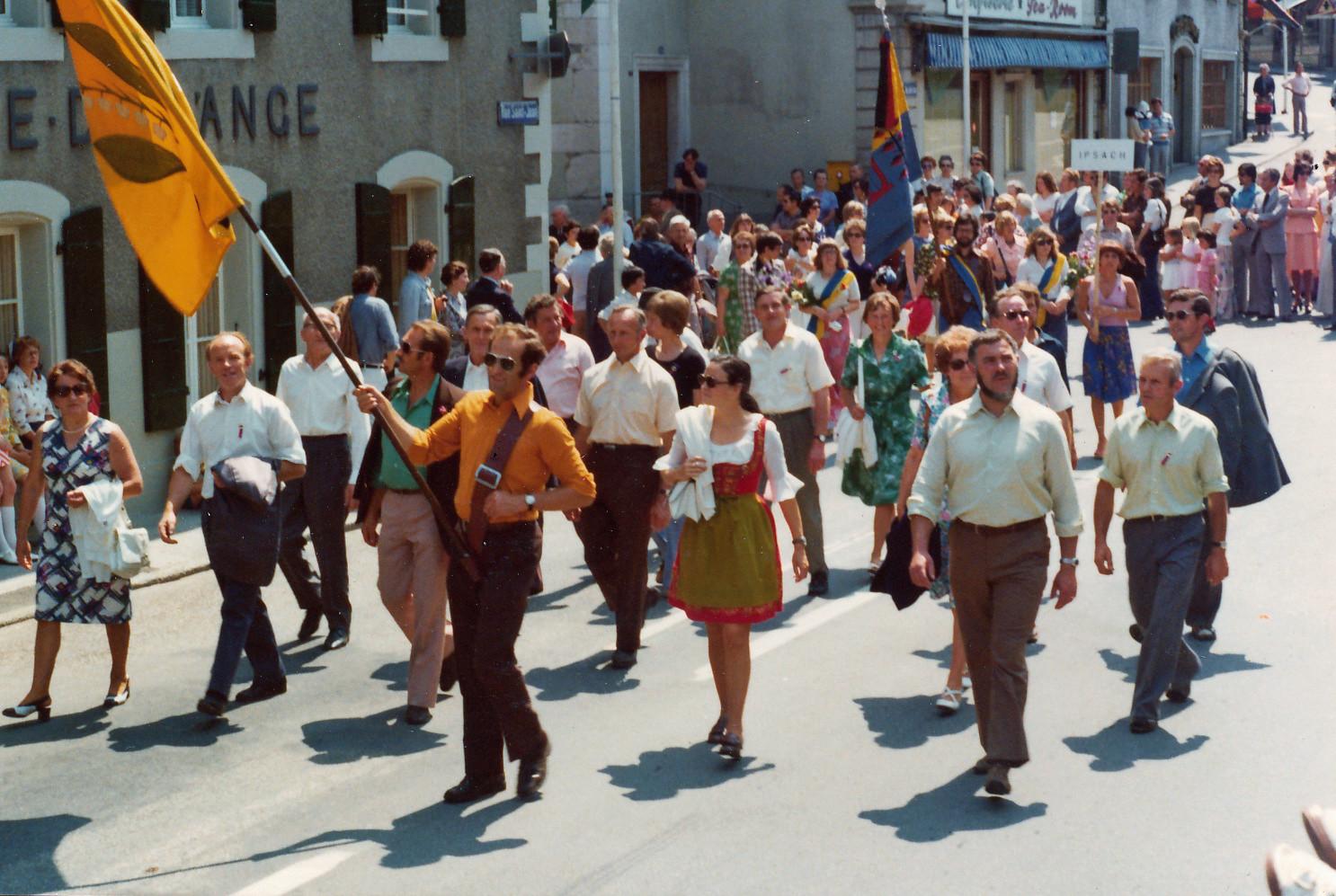 Sängerfest Nyon VD 21./22.6.1975::Foto zur Verfügung gestellt von Martha Hauser