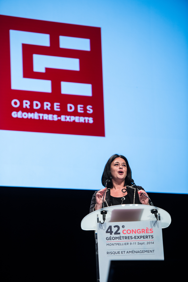 Congrès National de l'Ordre des géomètres experts, avec la ministre Sylvia Pinel - National congress with a french minister / OGE (2014)